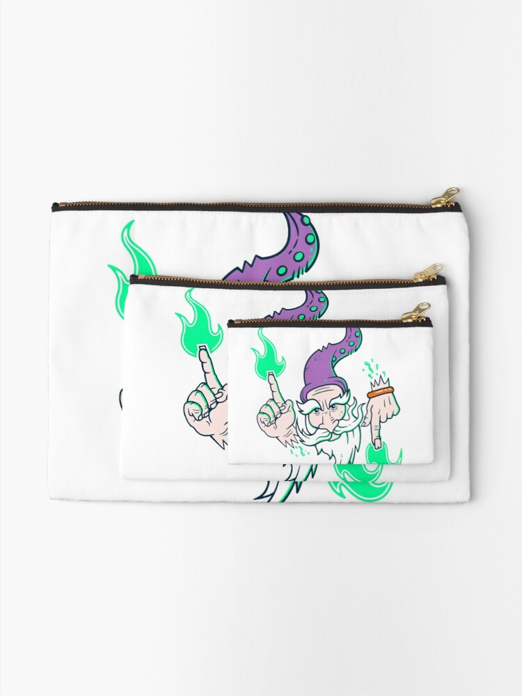 Alternate view of Elemental Wizard Brother Zipper Pouch