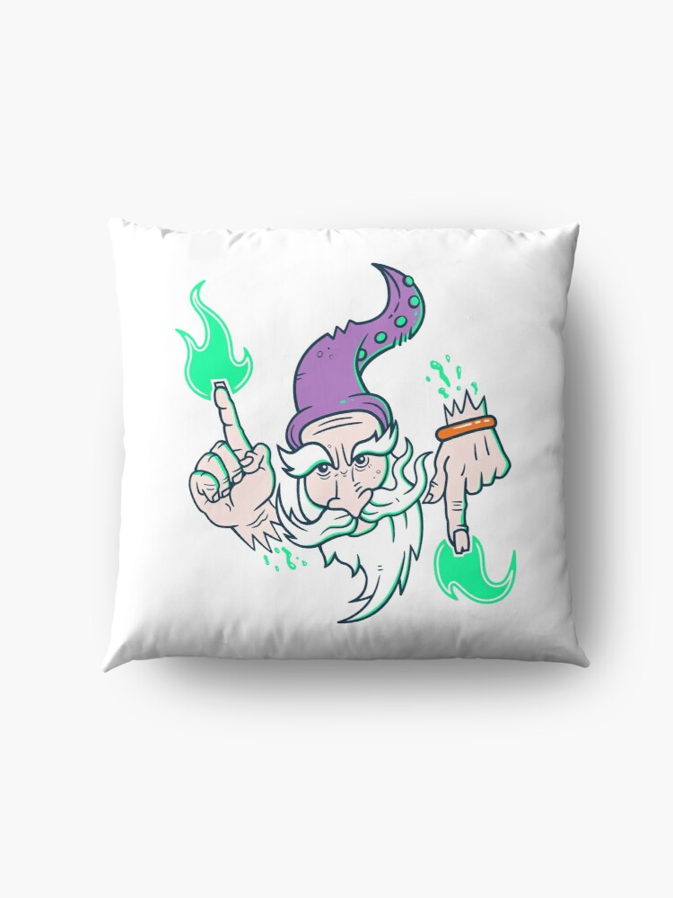 Alternate view of Elemental Wizard Brother Floor Pillow