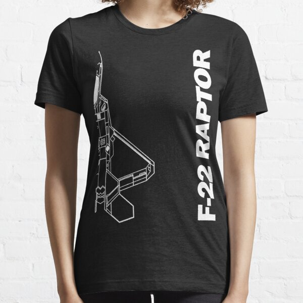 F-22 Raptor Silhouette Top View Essential T-Shirt