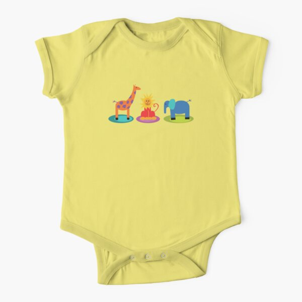 african animals Short Sleeve Baby One-Piece