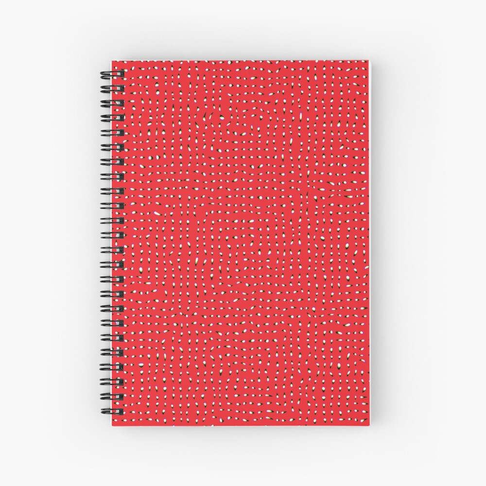 Optical illusion, #pattern, #abstract, #art, #design, shape, spiral, curve, decoration, futuristic, psychedelic Spiral Notebook