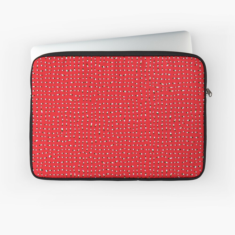 Optical illusion, #pattern, #abstract, #art, #design, shape, spiral, curve, decoration, futuristic, psychedelic Laptop Sleeve