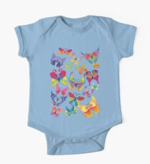 Colorful Butterflies One Piece - Short Sleeve