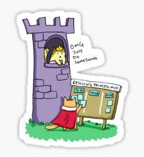 Princess Rescue MVP Glossy Sticker