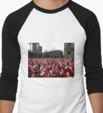 Will the real Santa Claus put their hand up? Men's Baseball ¾ T-Shirt