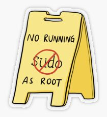 No Running As Root Transparent Sticker