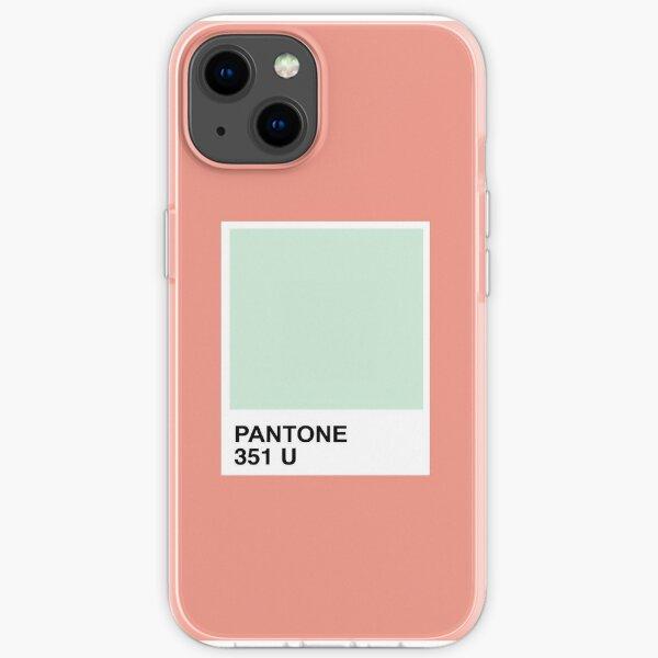 Pantone Mint + Tangerine iPhone Soft Case