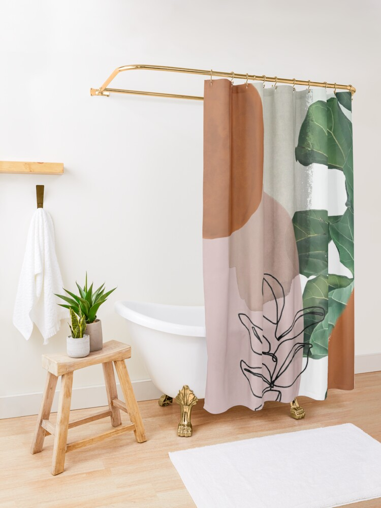 Alternate view of Simpatico V2 Shower Curtain