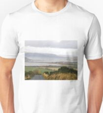 Lough Swilly with snow capped Donegal Hills - Donegal Ireland  Unisex T-Shirt