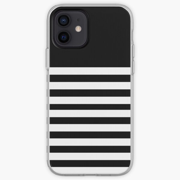 Black and white striped iPhone Soft Case