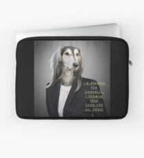 "Funny Politics Dog Shirt ""I'm running for Congress..."" Laptop Sleeve"