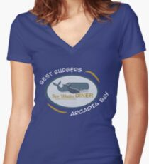 Two Whales Diner Tourist Shirt - Episode 2 Women's Fitted V-Neck T-Shirt