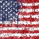 «Bandera de los EEUU - salpicadura sucia» de Garyck Arntzen