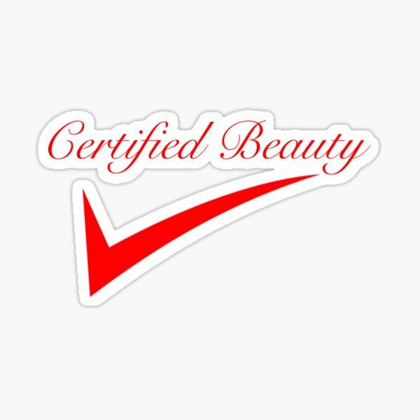 Belleza certificada Pegatina
