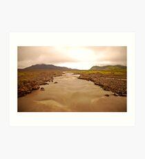 Glacial River - Iceland Art Print
