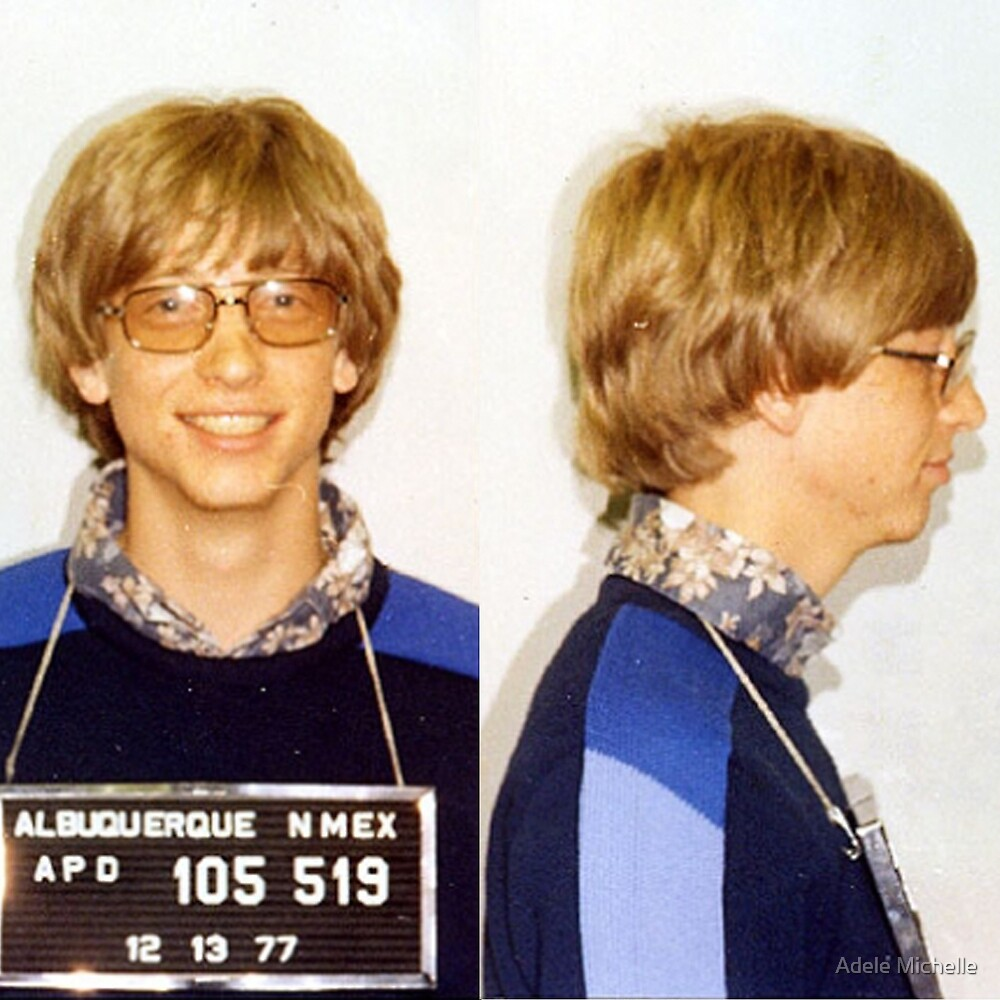 Quot Bill Gates Mugshot Quot By Addyreck Redbubble