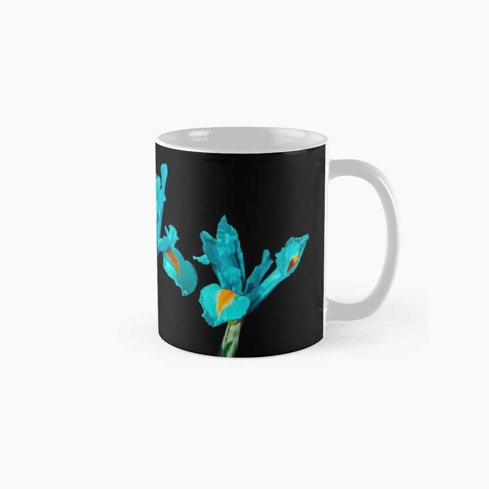 Candescent Cerulean Night Flowers Mugs
