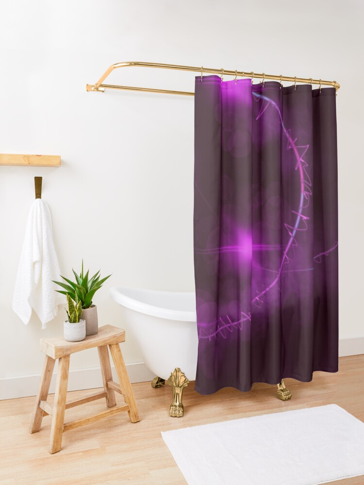 Alternate view of Passionate Grasp Shower Curtain