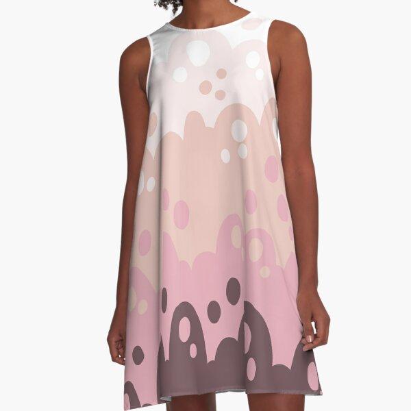 Bubbly Dusty Rose A-Line Dress