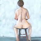 nude on stool by ria hills