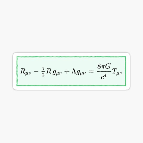 Mathematics, #General #Relativity - #Einstein Field #Equations (EFE; also Known as Einstein's Equations) Sticker