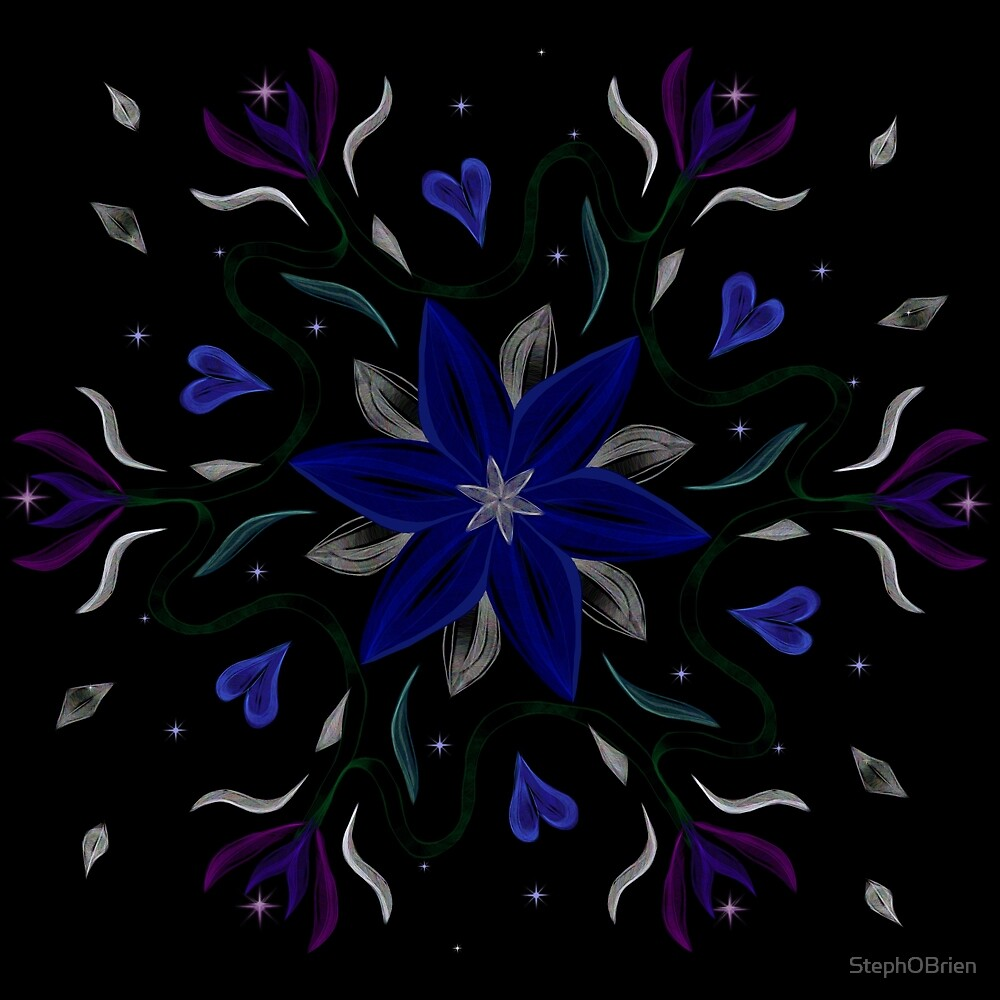 Blue Starflower by StephOBrien