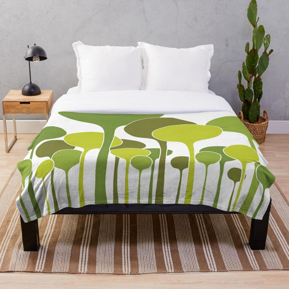Green Palette Throw Blanket
