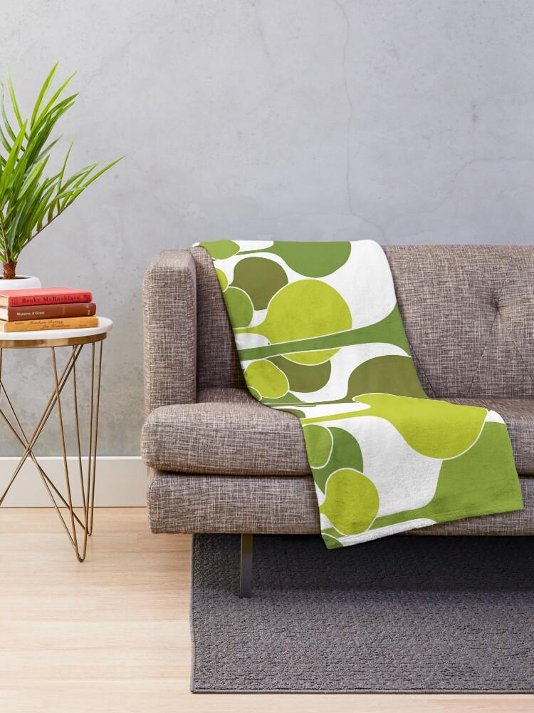 Alternate view of Green Palette Throw Blanket