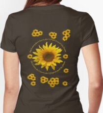 Be like the Sunflower - Don't Worry T Shirt Womens Fitted T-Shirt