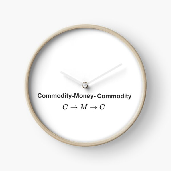 Math, The #Metamorphosis of #Commodities. #Marx examines the paradoxical nature of the exchange of commodities: Commodity-#Money-Commodity Clock