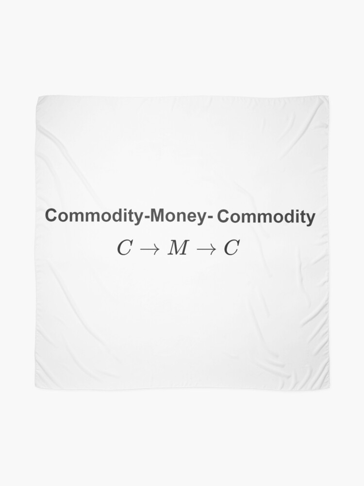 Alternate view of  The #Metamorphosis of #Commodities.  #Marx examines the paradoxical nature of the exchange of commodities:   Commodity-#Money-Commodity  Scarf