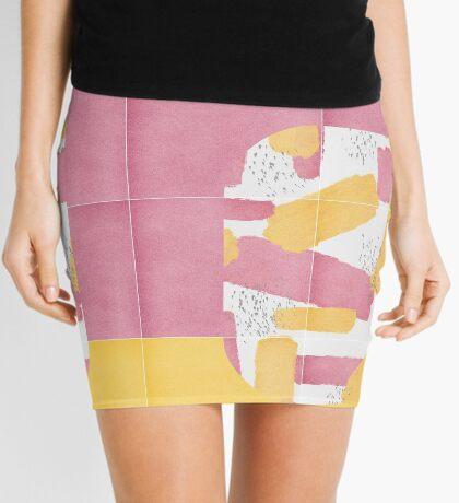 Bold Painted Tiles 01 #redbubble #midmod Mini Skirt