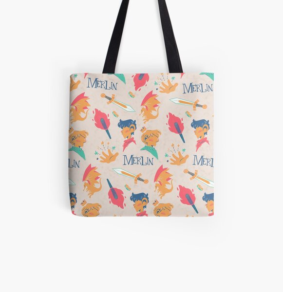 Merlin Pattern All Over Print Tote Bag