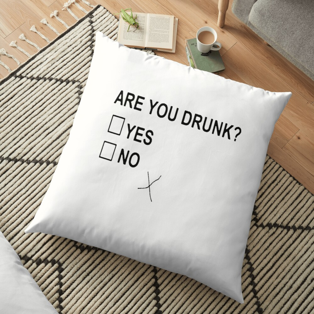 Are You Drunk Floor Pillow