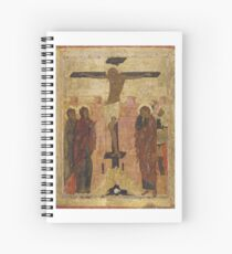 The Crucifixion. Early 15th century (1410s ?)  Annunciation Cathedral of the Moscow Kremlin, Moscow, Russia Spiral Notebook