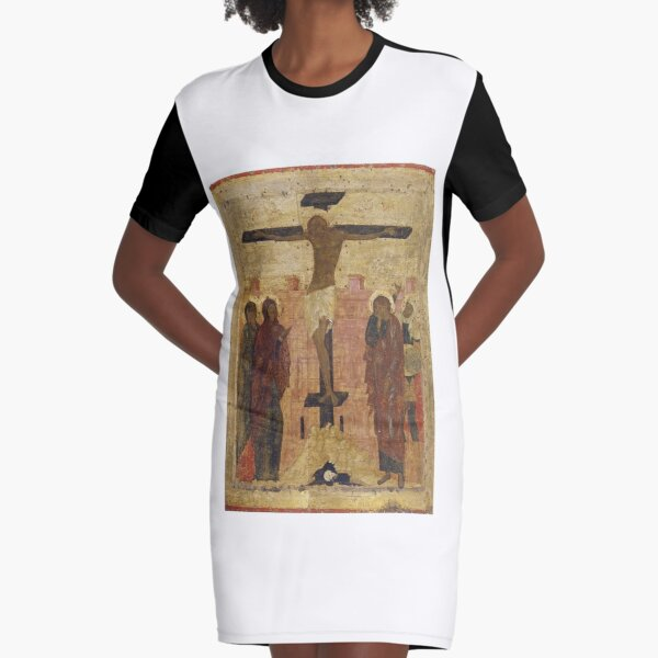The Crucifixion. Early 15th century (1410s ?)  Annunciation Cathedral of the Moscow Kremlin, Moscow, Russia Graphic T-Shirt Dress