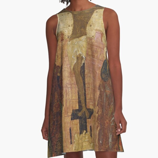 The Crucifixion. Early 15th century (1410s ?)  Annunciation Cathedral of the Moscow Kremlin, Moscow, Russia A-Line Dress