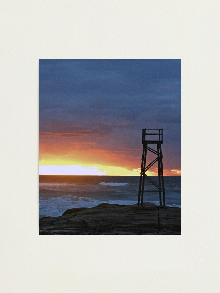 Alternate view of Sunrise at Redhead Beach - 3 Photographic Print
