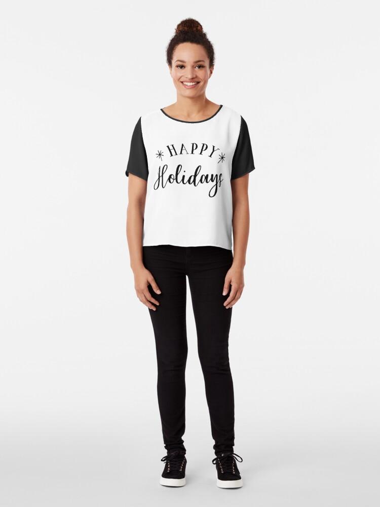 Alternative Ansicht von Happy Holidays Chiffon Top