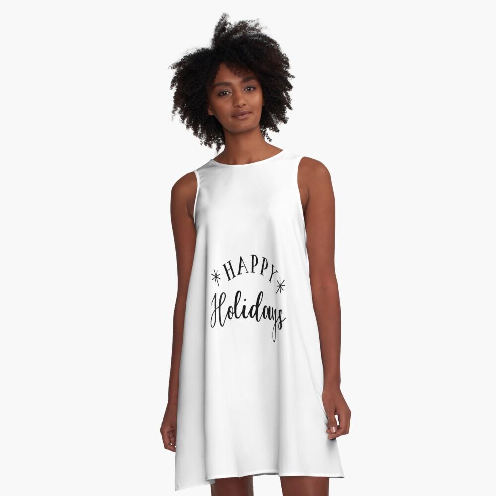 Happy Holidays A-Linien Kleid