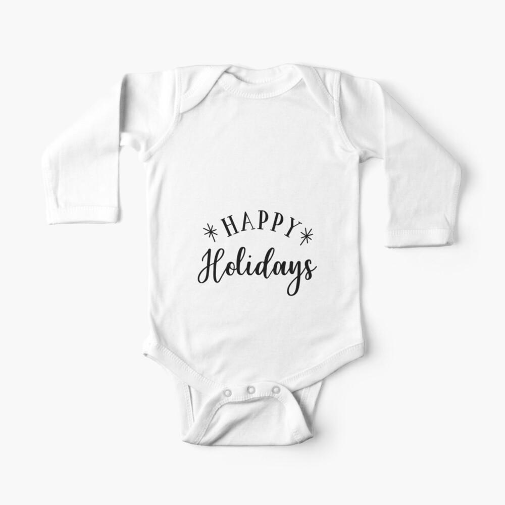 Happy Holidays Baby Body