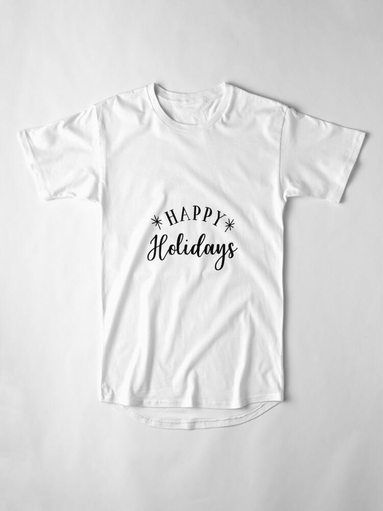 Alternative Ansicht von Happy Holidays Longshirt