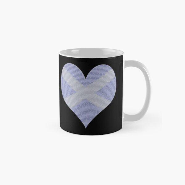 Scots Words in a Saltire in a Heart Classic Mug