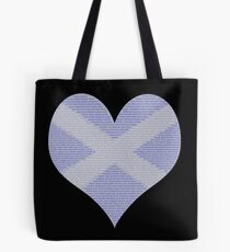 Scots Words in a Saltire in a Heart Tote Bag