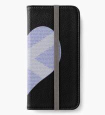 Scots Words in a Saltire in a Heart iPhone Wallet/Case/Skin