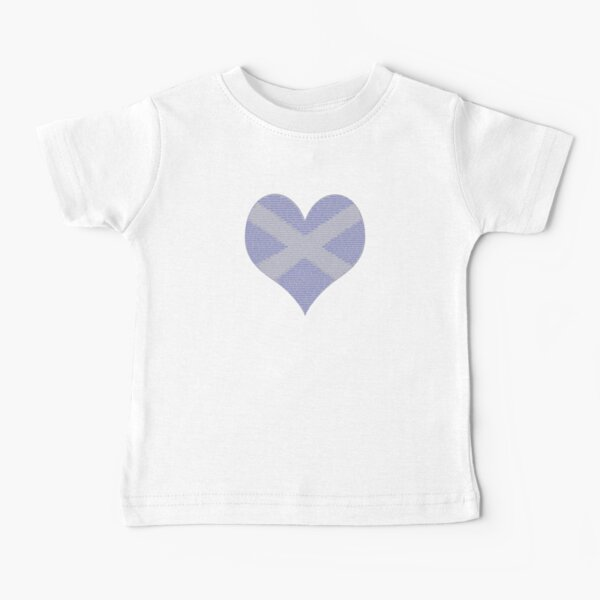 Scots Words in a Saltire in a Heart Baby T-Shirt