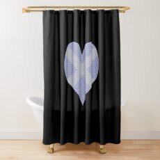 Scots Words in a Saltire in a Heart Shower Curtain