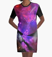 Asteroid Showers over Bow Fiddle Rock Graphic T-Shirt Dress