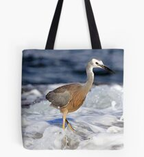 Caught by a wave Tote Bag