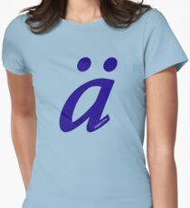 German 'a' with umlaut - navy blue Women's Fitted T-Shirt